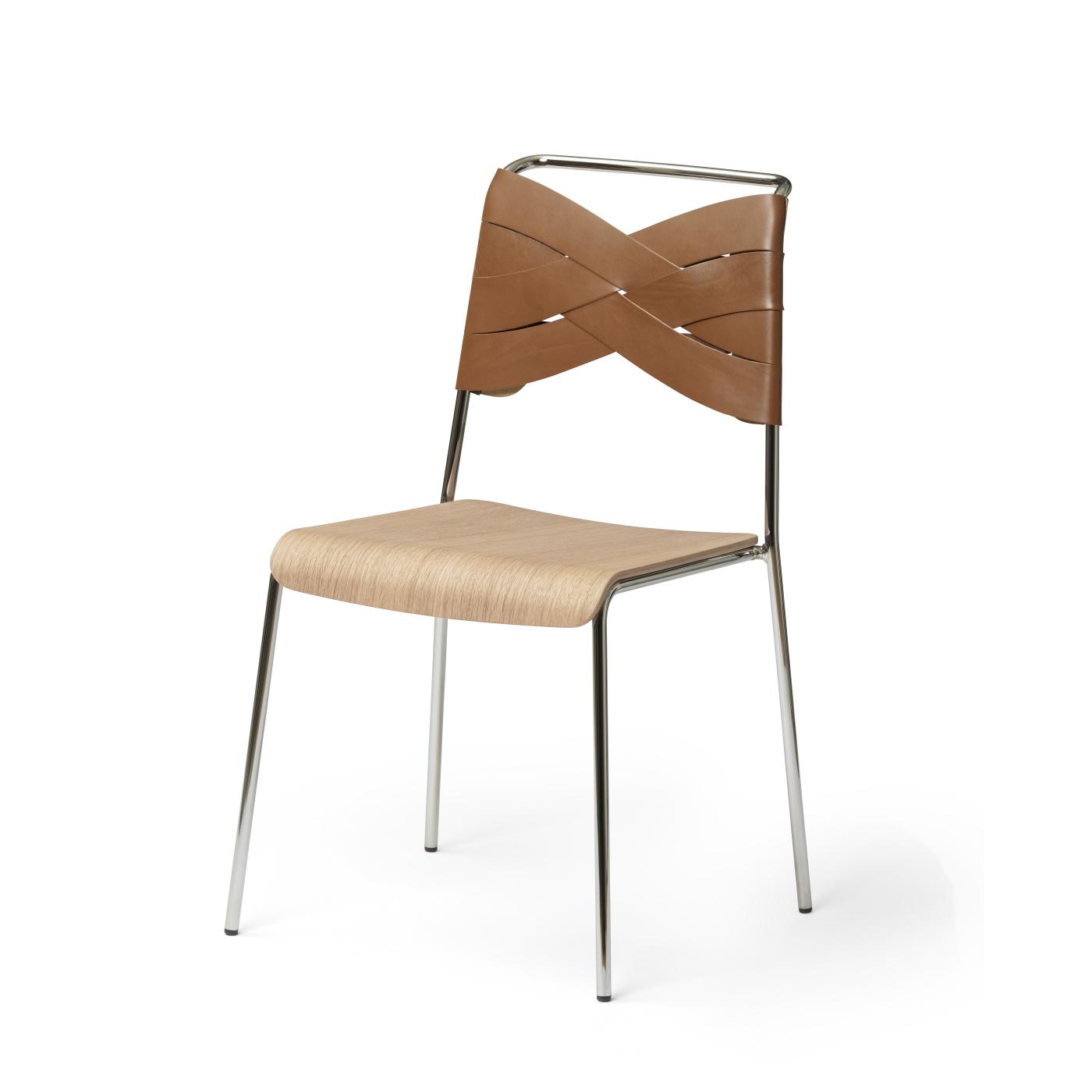 Torso Chair krom/ ek/ cognac, Design House
