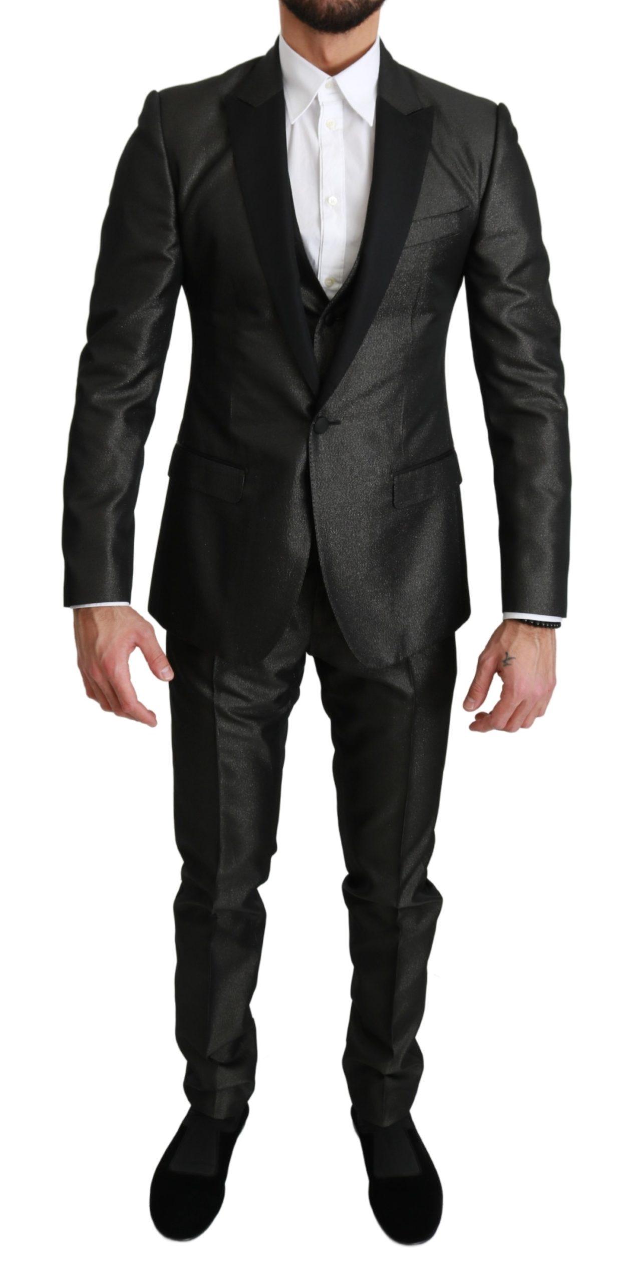 Dolce & Gabbana Men's Single Breasted 3 Piece MARTINI Suit Gray KOS1661 - IT44   XS