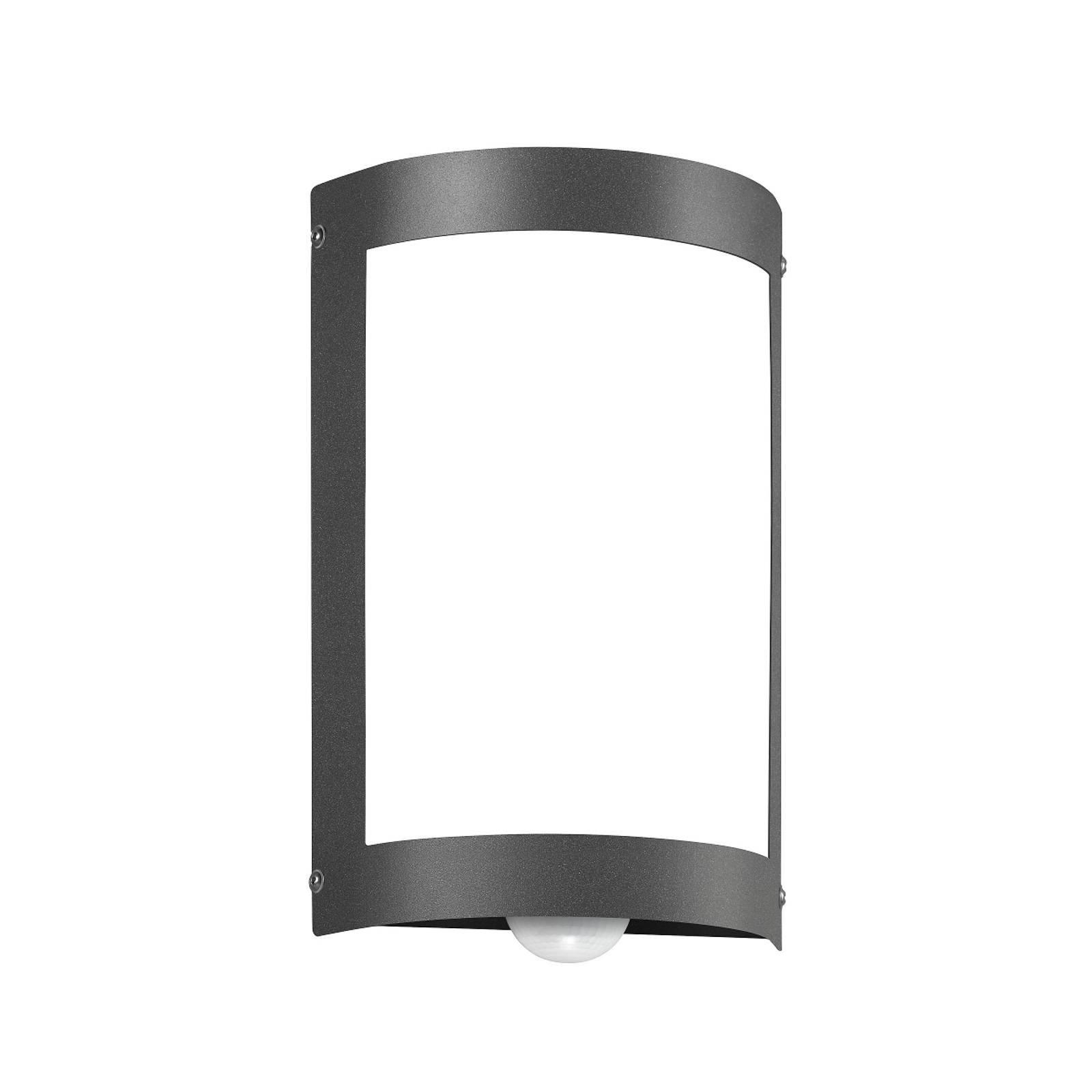 Sensor-utelampe Aqua Marco uten gitter, antrasitt