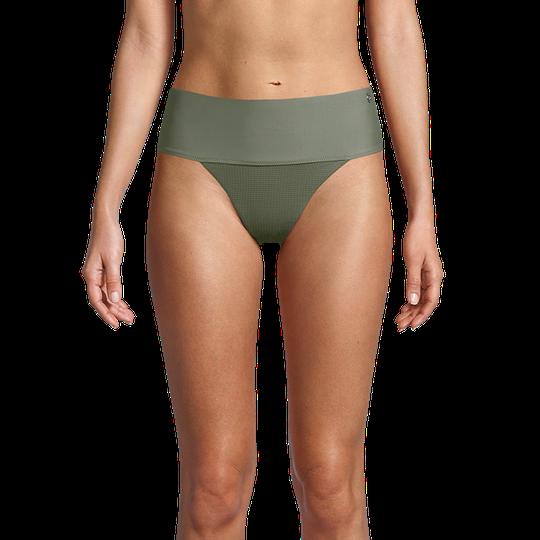 Iconic High Waist Bikini Bottoms, Northern Green