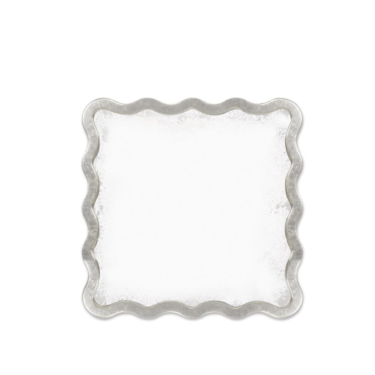 William Yeoward | Keste Square Mirror Antique Silver
