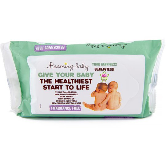 Beaming Baby Baby Wipes Fragrance Free, 72 st