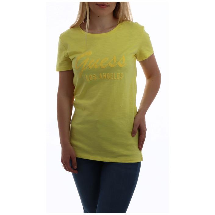 Guess Women's T-Shirt Yellow 258491 - yellow M