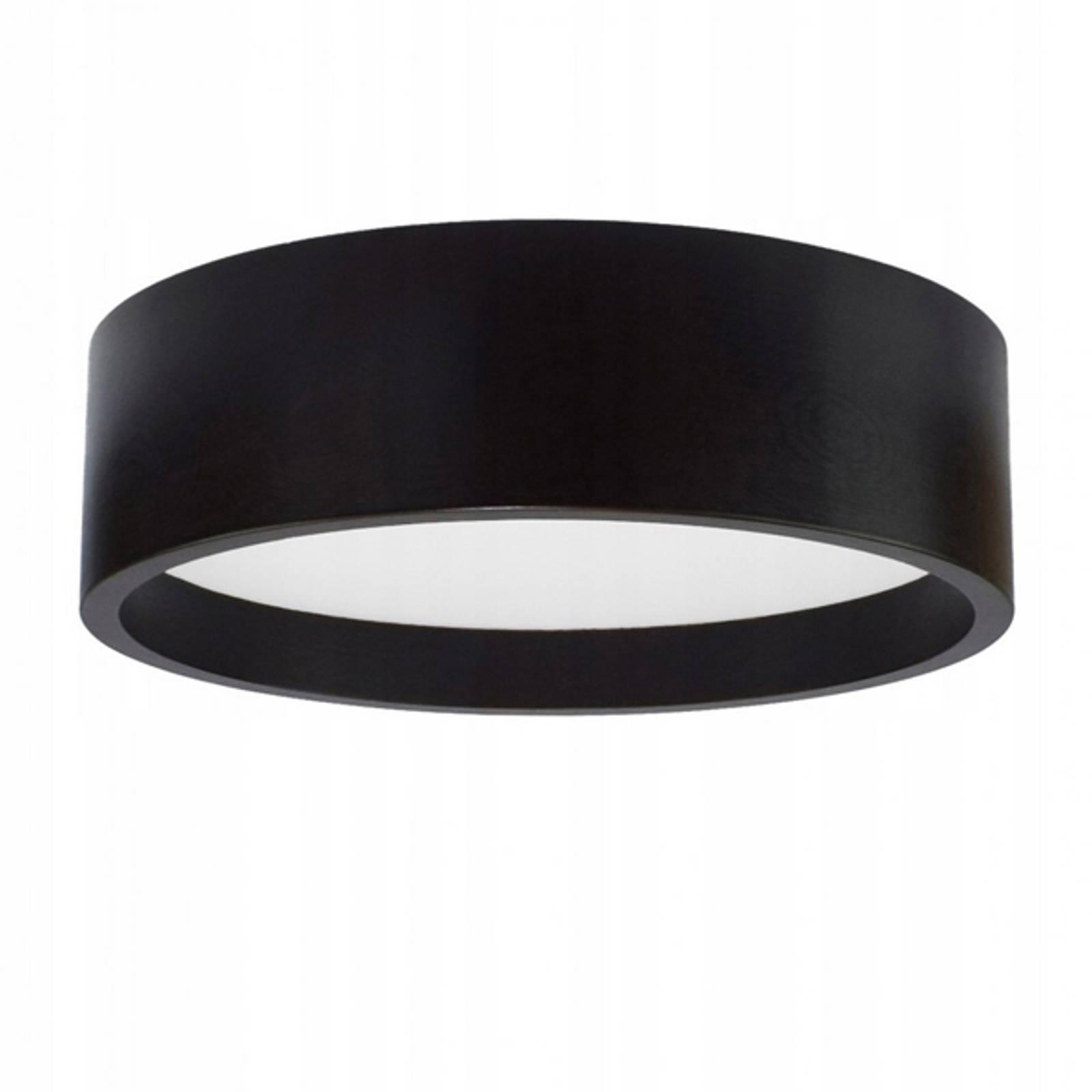 LED-kattovalaisin Deep, Ø 38 cm, musta
