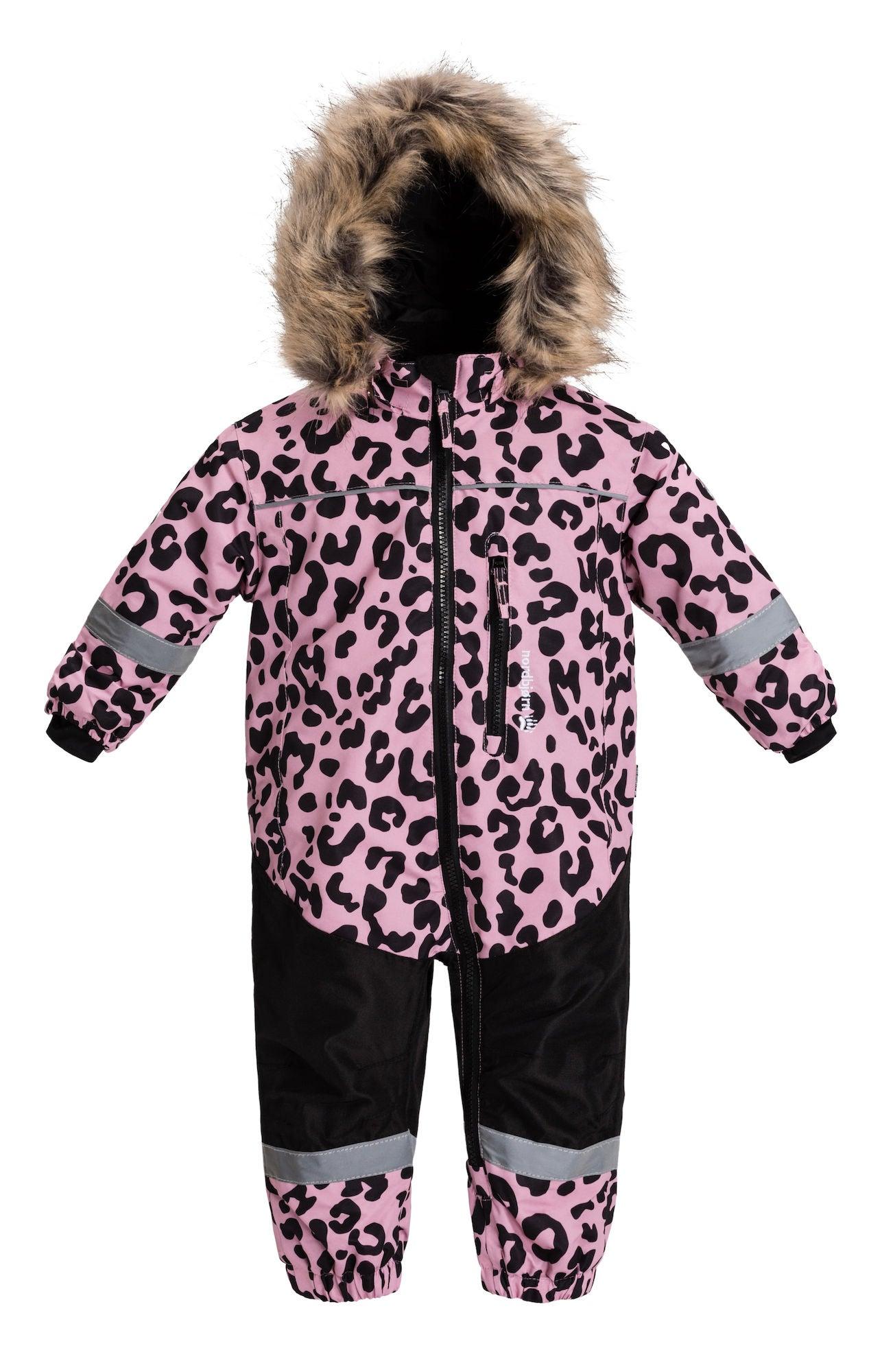 Nordbjörn Igloo Babyoverall, Pink Nectar Leopard 68