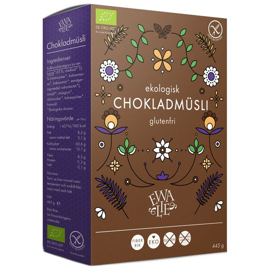 Müsli Glutenfri Mörk Choklad 445g - 32% rabatt