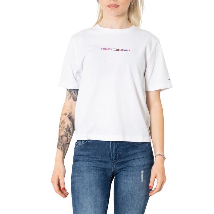 Tommy Hilfiger Jeans Women's T-Shirt Various Colours 273115 - white XXS
