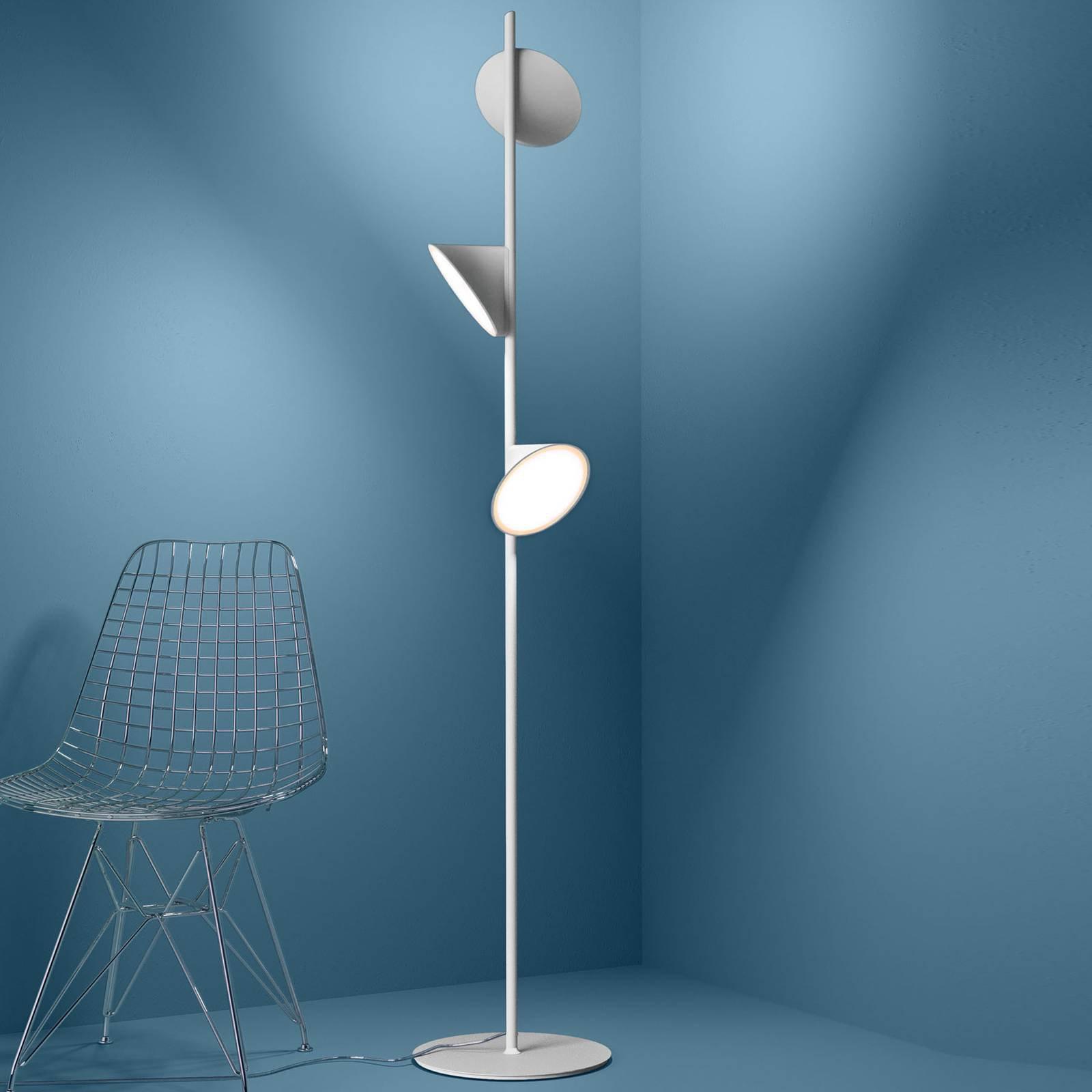 Axolight Orchid LED-gulvlampe, hvit