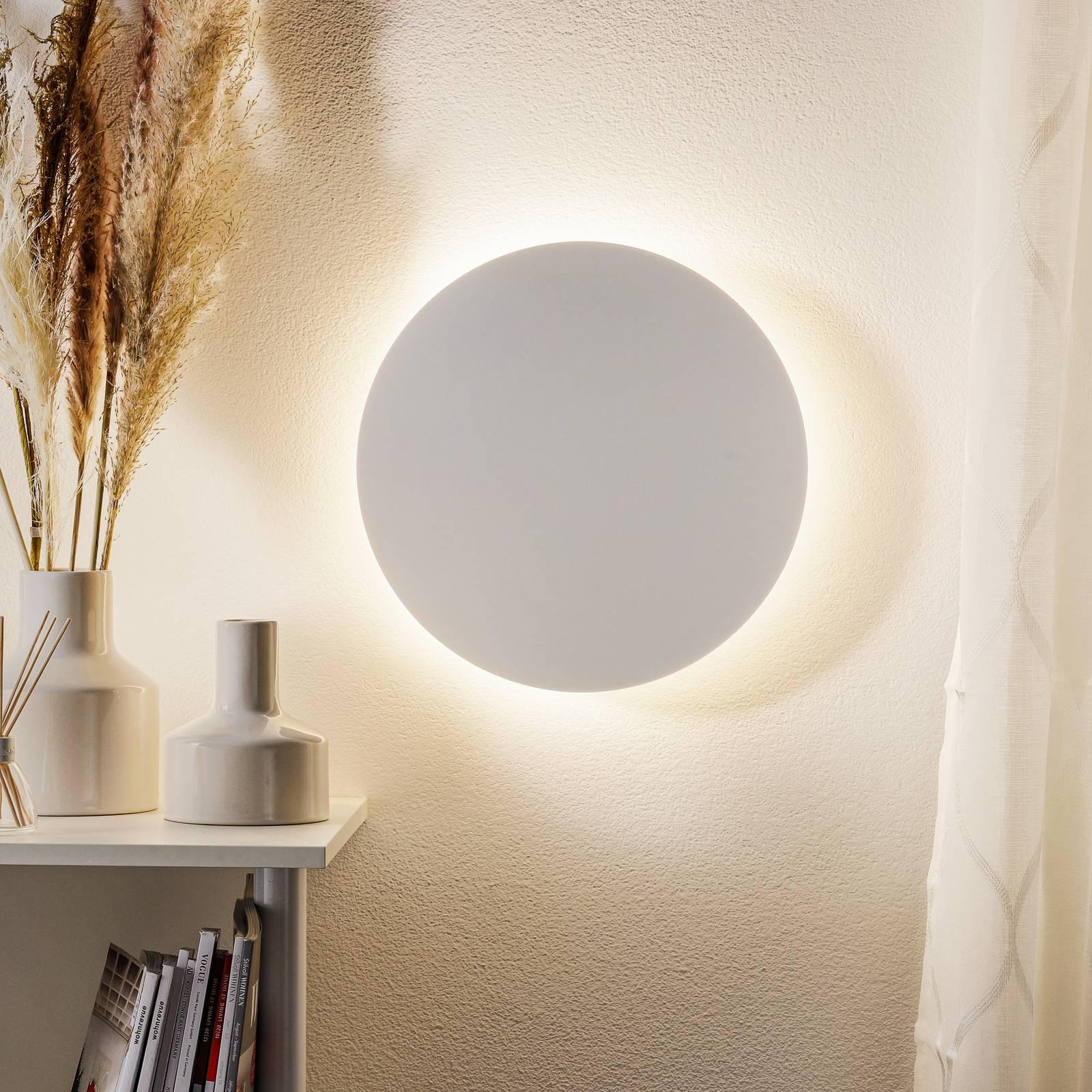 Escale Blade -LED-seinävalo mattavalkoinen Ø 34 cm