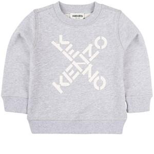 Kenzo Criss Cross Logo Sweatshirt Grå 3 år