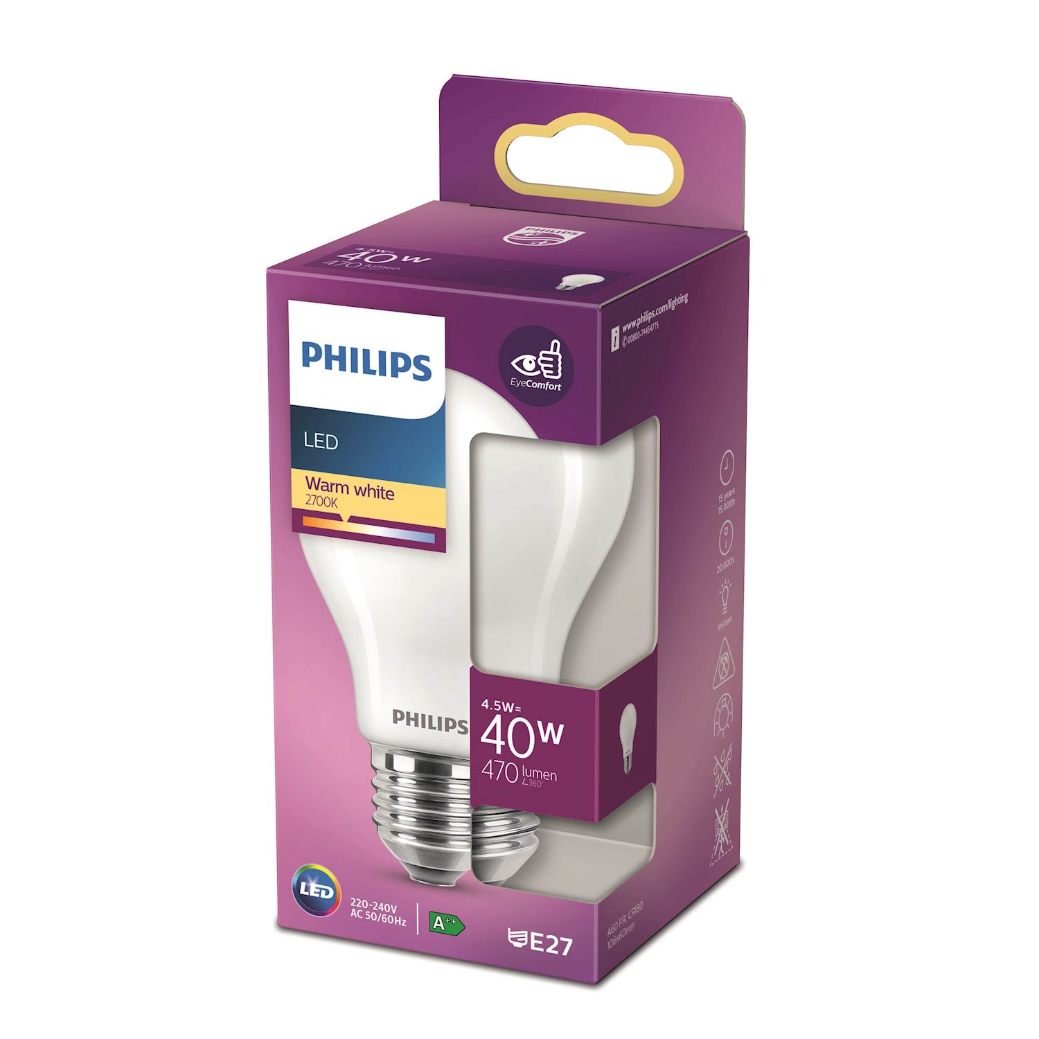 Philips LED Classic 40w norm e27 nd