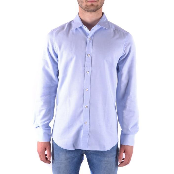 Fay Men's Shirt Blue 163212 - blue 40