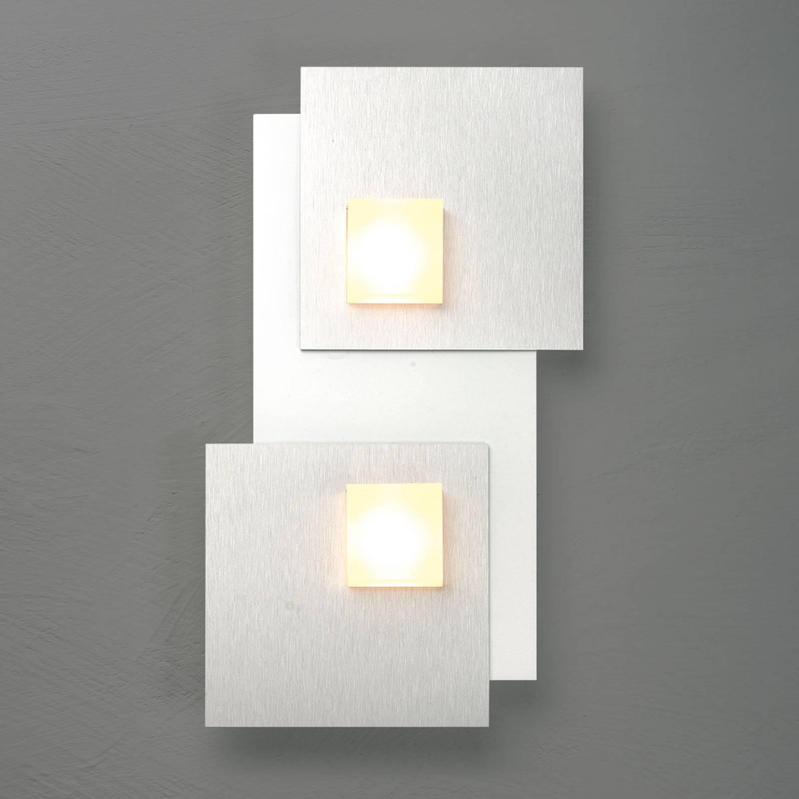 Bopp Pixel 2.0 LED-kattovalaisin 2-lamp., alu