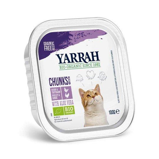 Yarrah Organic Cat Chicken & Turkey Chunks Grain Free