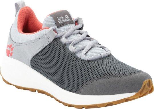 Jack Wolfskin Coogee Low Sneaker, Dark Grey/Rose, 31