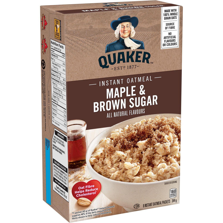 Quaker Instant Oatmeal Maple & Brown Sugar 344g