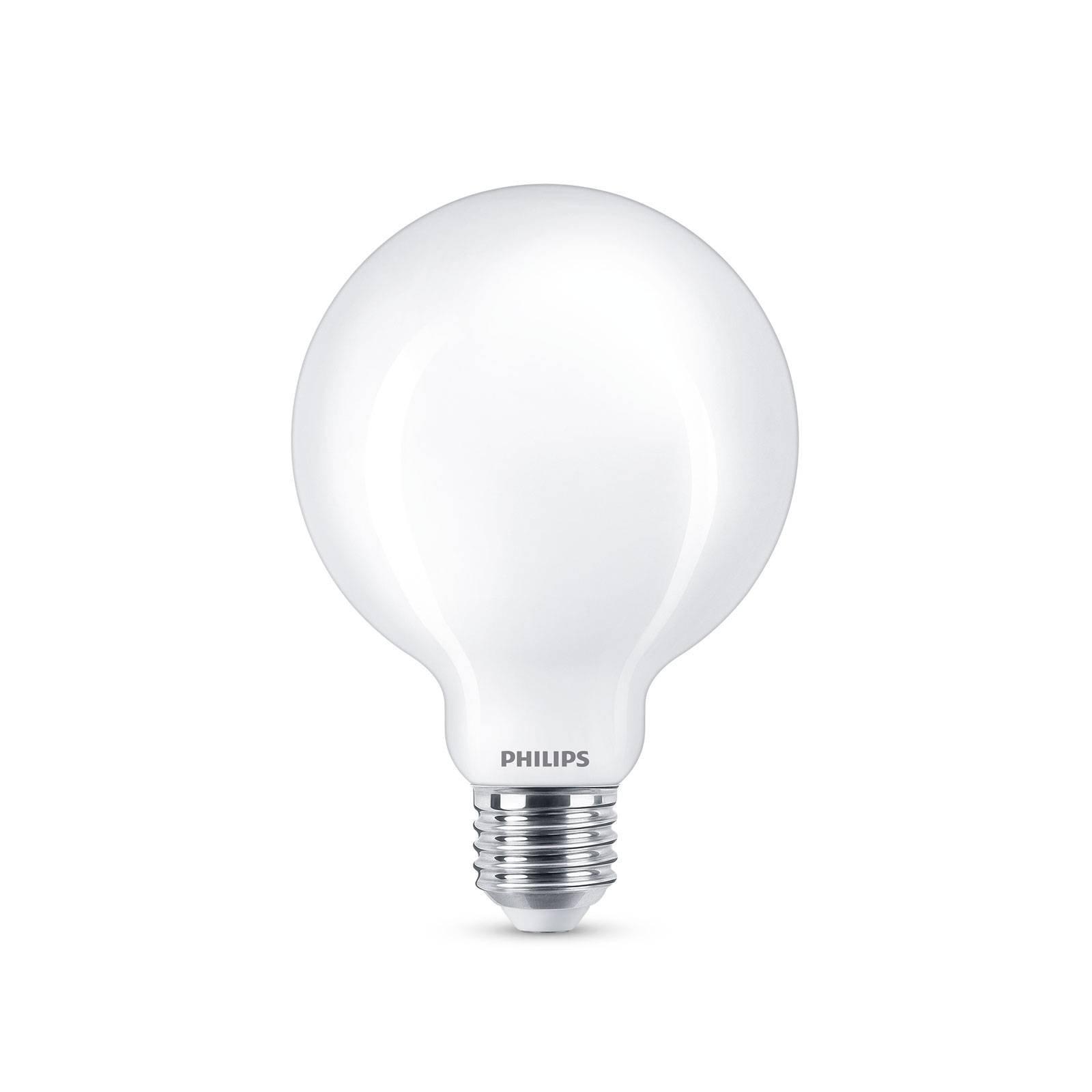 Philips LED-globepære E27 G93 7W 2 700 K, opal