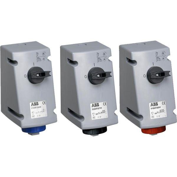 ABB 2CMA167879R1000 Seinäpistorasia IP67, 3P+J, 32 A 400 V