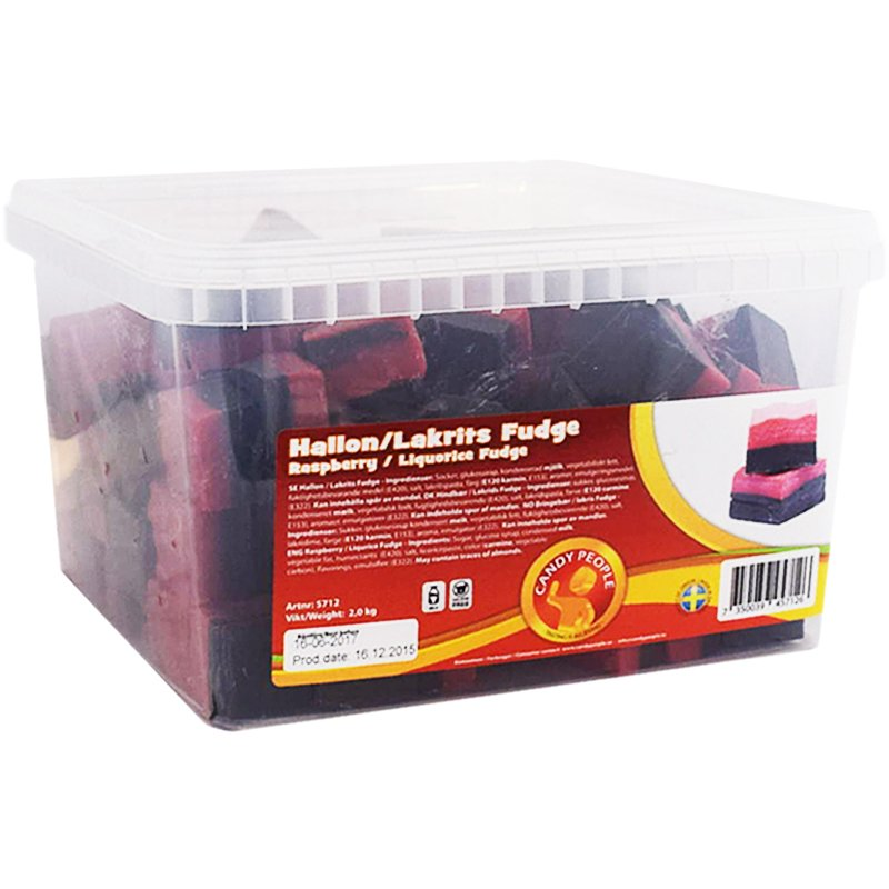 Hel Låda Fudge Hallon & Lakrits 2kg - 62% rabatt