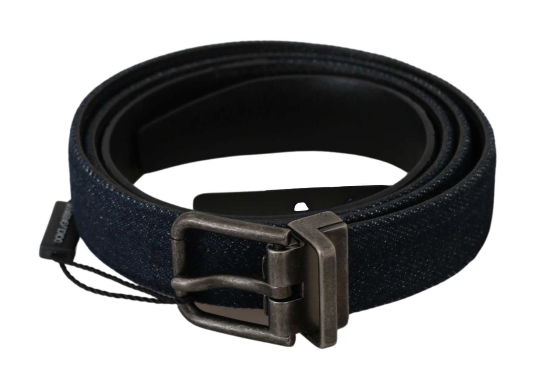 Dolce & Gabbana Men's Buckle Denim Caiman Belt Black BEL60497 - 100 cm / 40 Inches