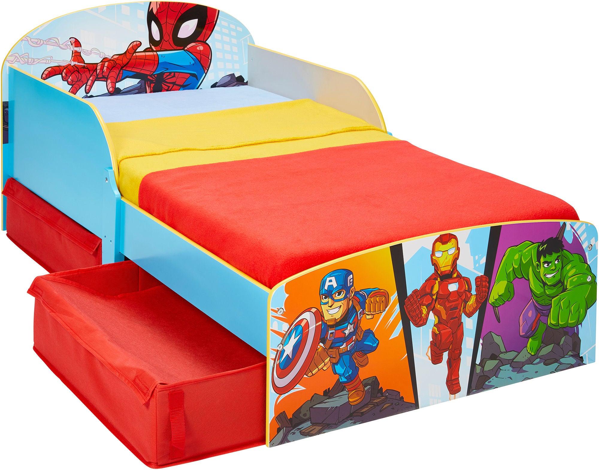 Marvel Superhero Adventures Juniorisänky + Sängynaluslaatikot