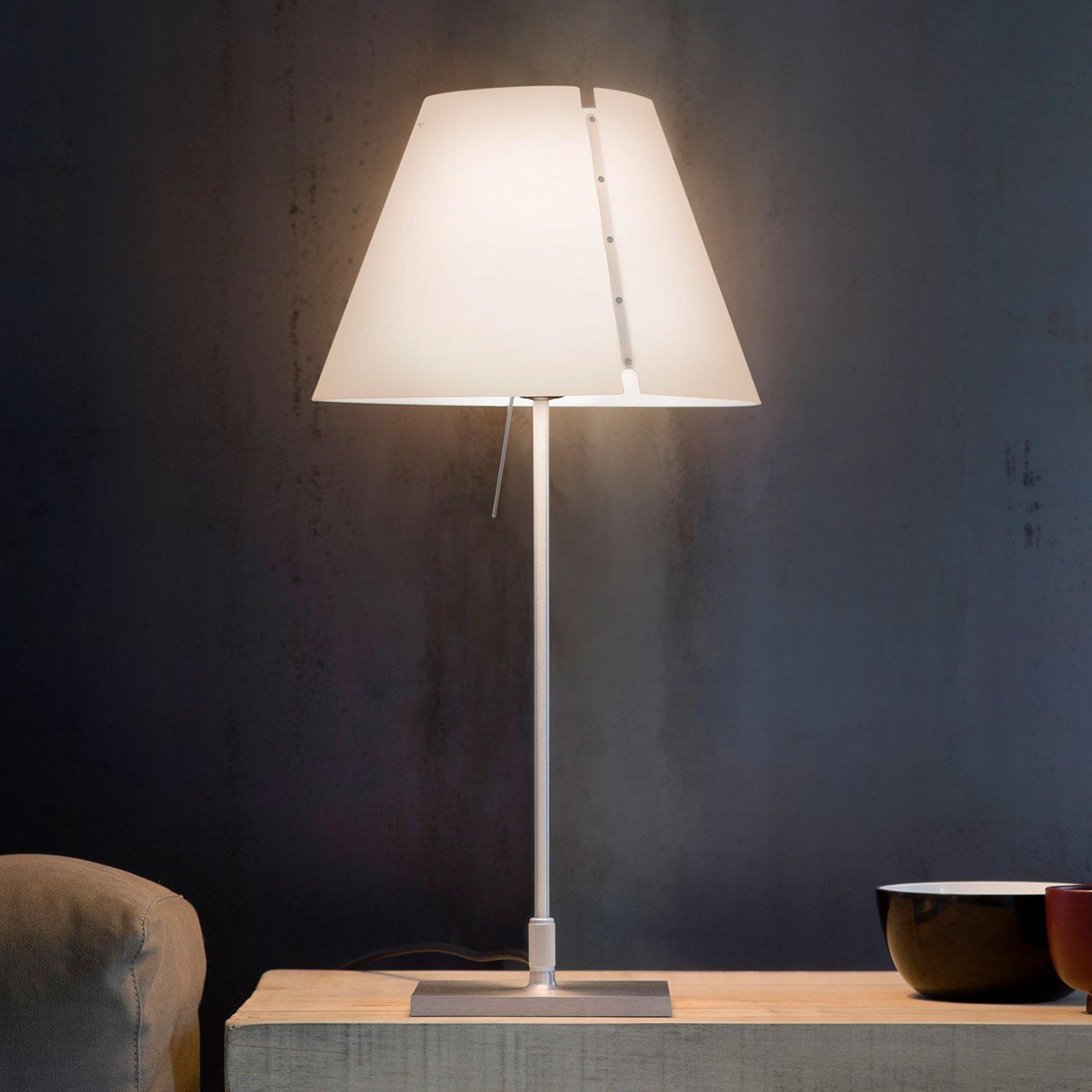 Luceplan Costanzina bordlampe alu, hvit