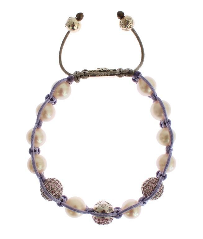 Nialaya Women's Purple CZ Pearl 925 Silver Bracelet Purple SIG19031 - S