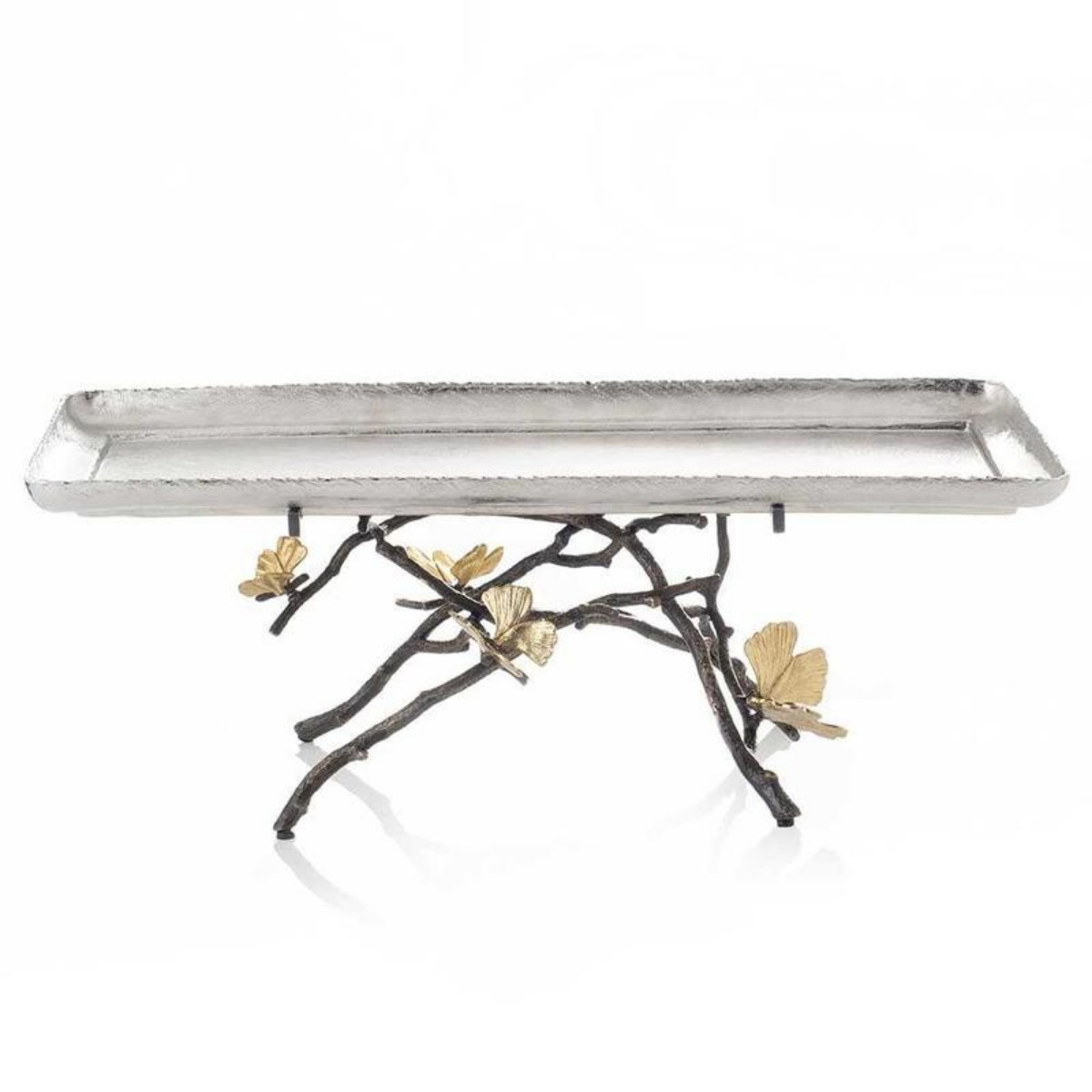 Michael Aram I Butterfly Ginkgo Footed Centerpiece Tray