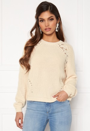 ONLY Maga L/S Lace Pullover Eggnog M