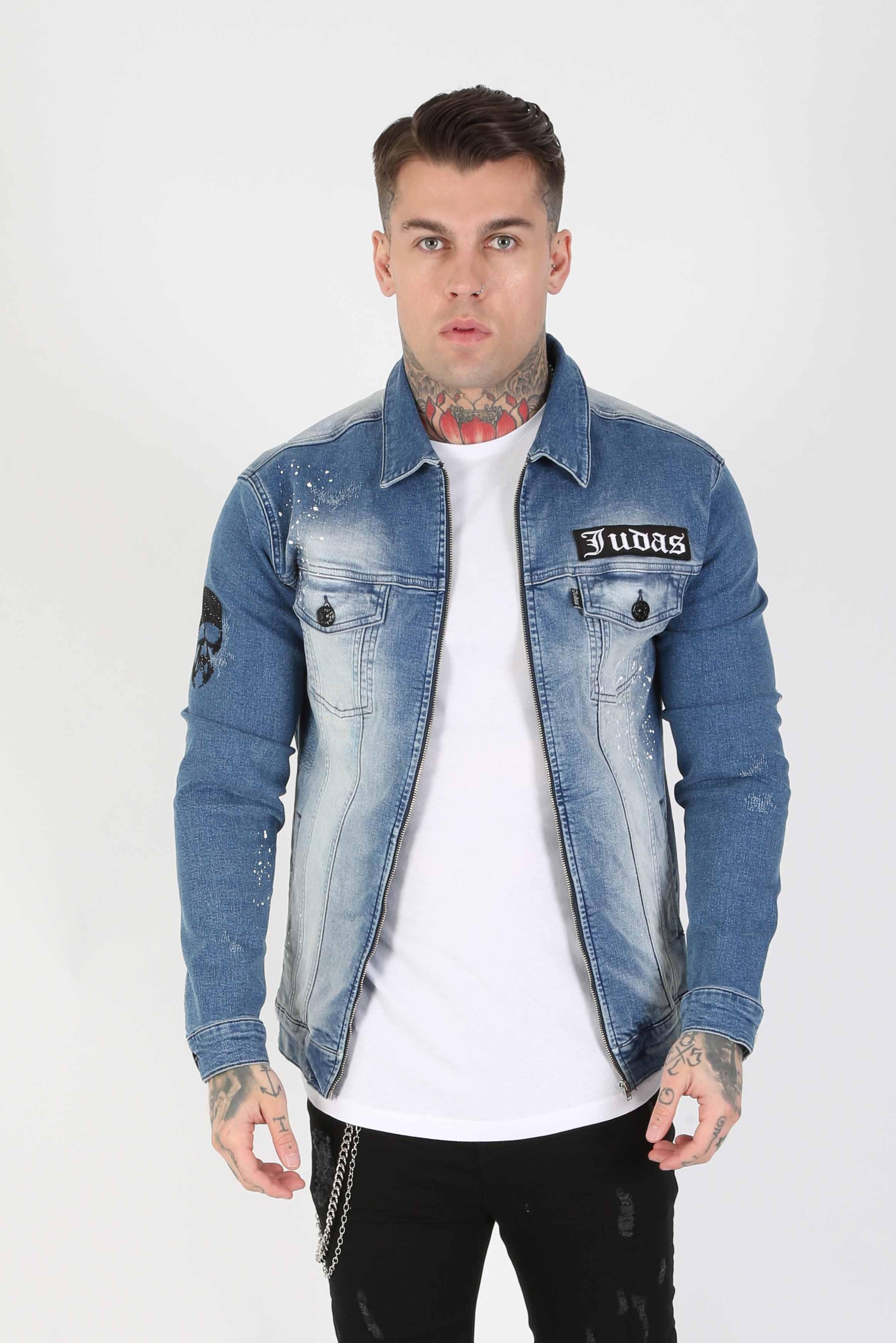 Thrasher Fitted Men's Denim Jacket - Blue, Small