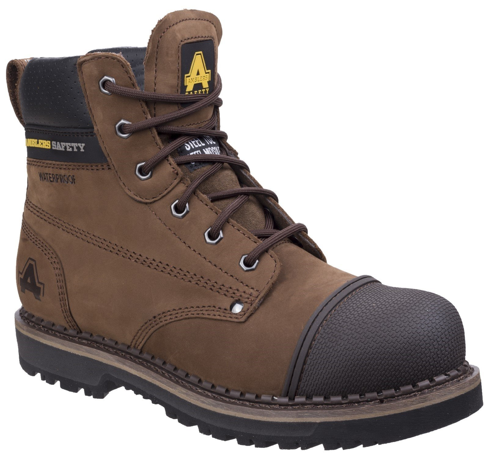 Amblers Unisex Safety Scuff Boot Brown 27096 - Brown 6