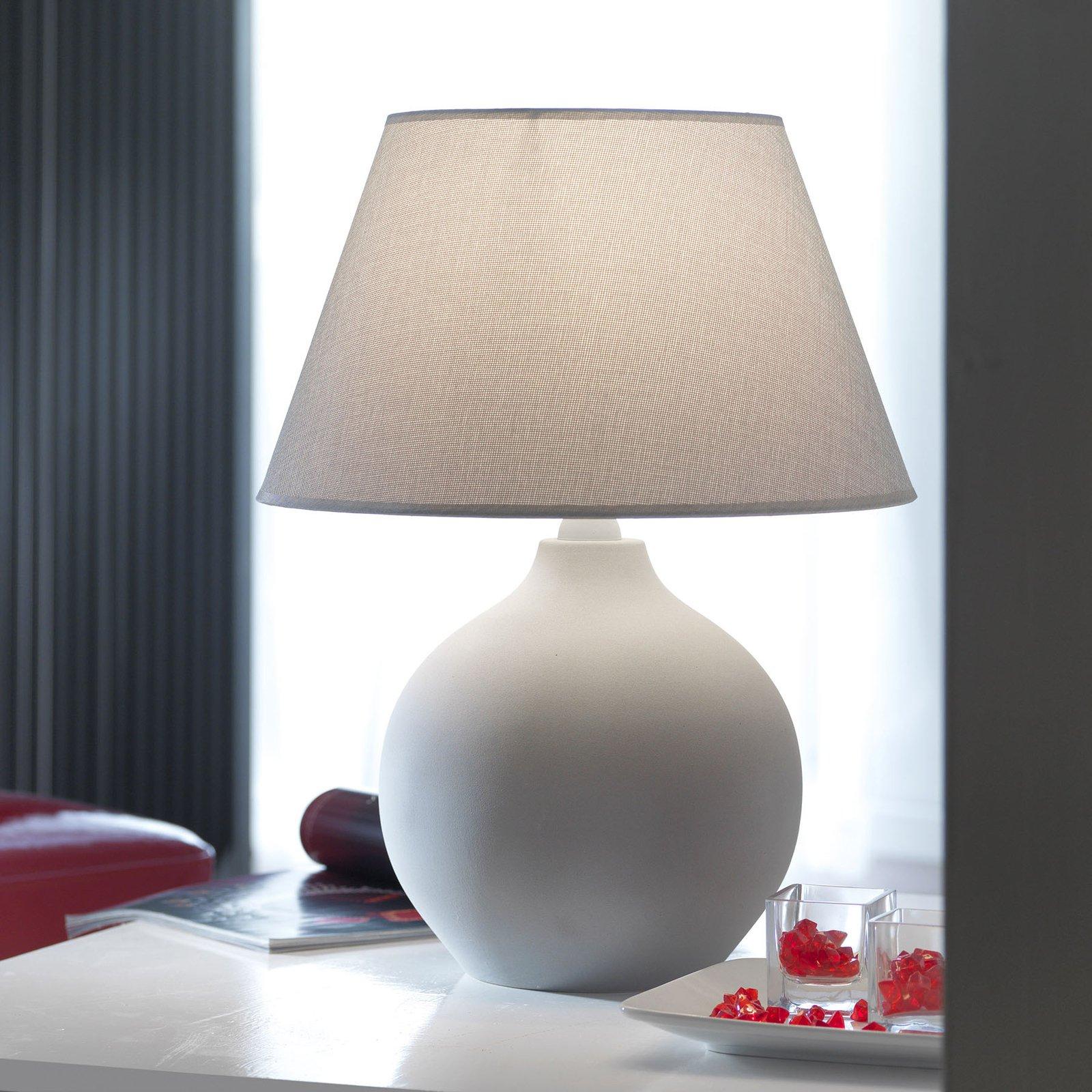 Bordlampe Sfera, høyde 53 cm, sement/grå