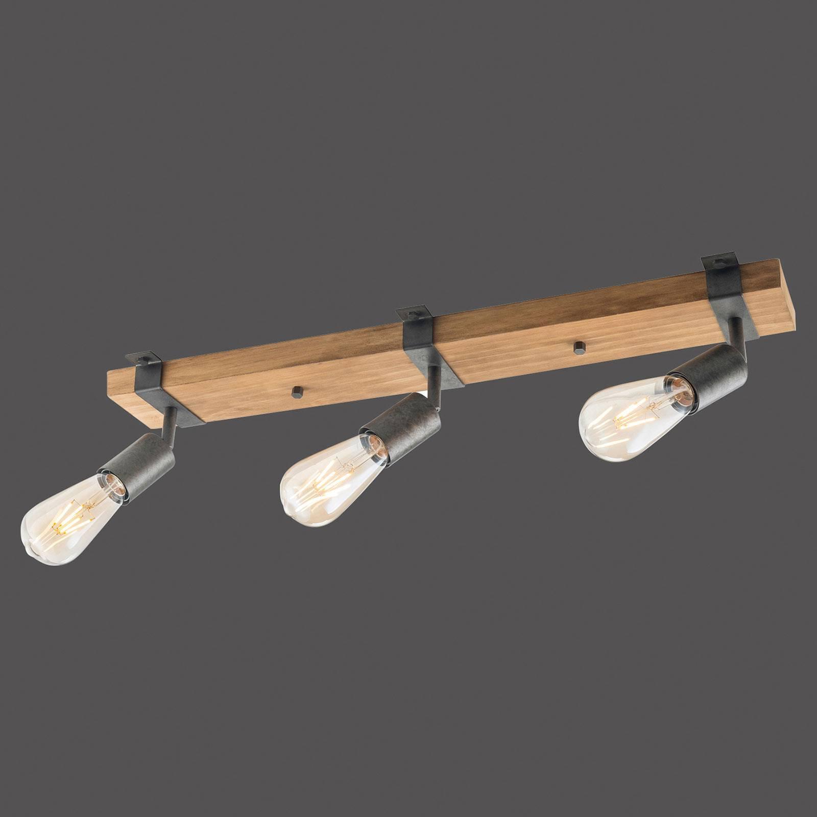 Slat taklampe, svingbar, 3 lyskilder