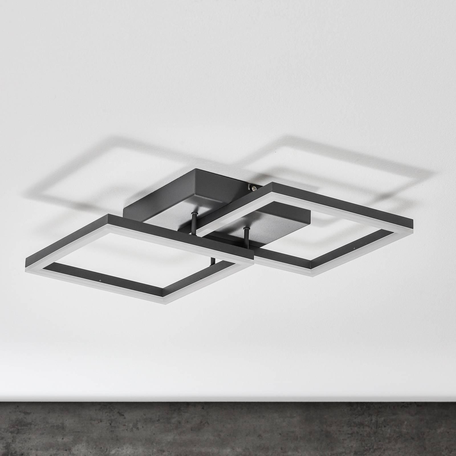 Bard-LED-kattovalo, 45x45 cm 2-lamp., antrasiitti