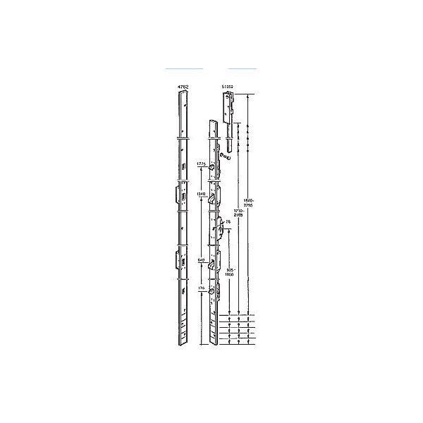ASSA Spanjoflex Fix 1062 Espagnolett sluttstykke og skrue