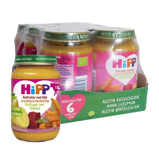 Hel Låda Barnmat Rotfrukter med Kött 6 x 190g - 40% rabatt