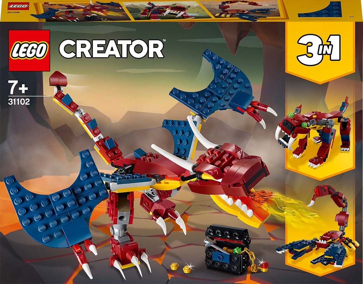 LEGO Creator 3-in-1 31102 Tulilohikäärme