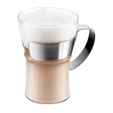 Assam Kaffeglass med håndtak 35 cl 2 stk