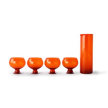 Funky Orange Glas set