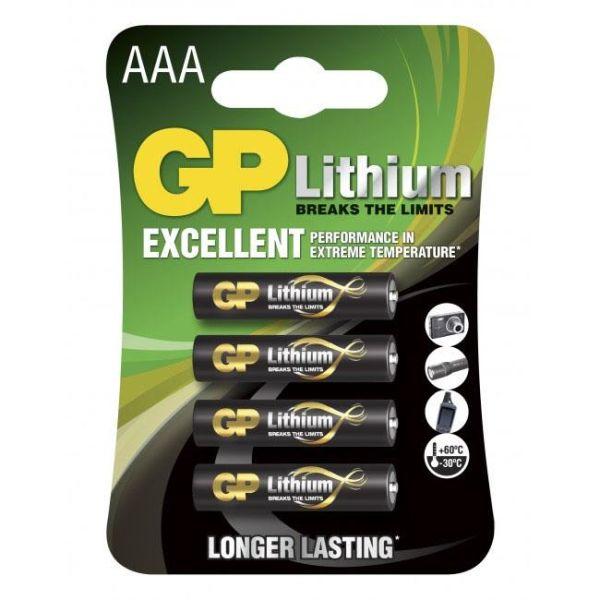 GP Batteries 24LF-2U4 Litiumbatteri 1.5V, 4-pakk AAA