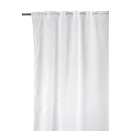 Plain Gardiner Hvit sett med 2 stk. 300x150 cm