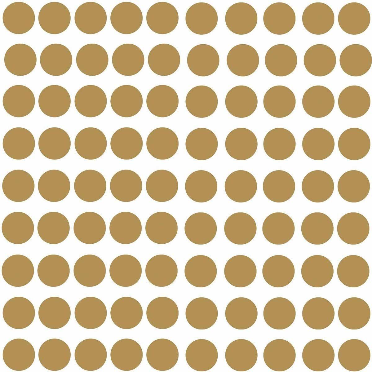 RoomMates Sisustustarrat Gold Confetti Dots