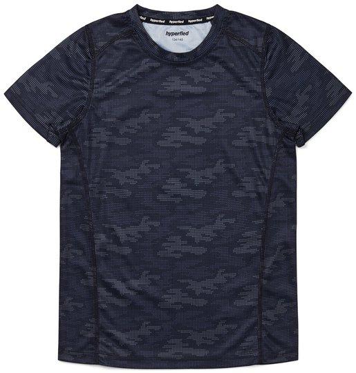 Hyperfied Logo T-Shirt, Grey Camo 86-92