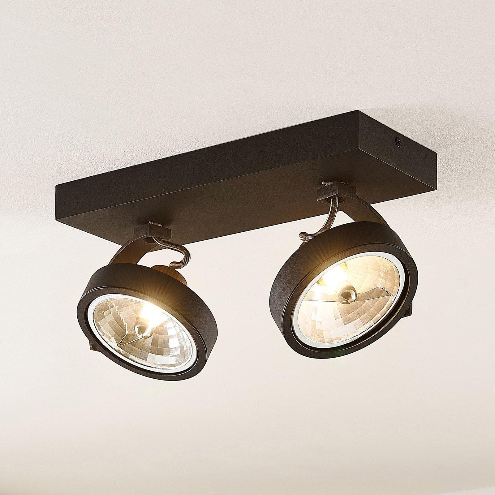 Arcchio Dagur-takspot, 2 lyskilder svart