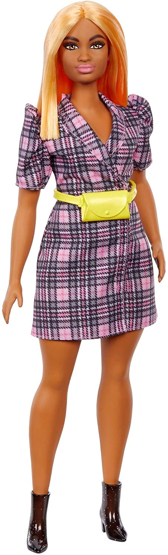 Barbie - Fashionistas Doll - Puff Sleeve Plaid Blazer Dress (GRB53)