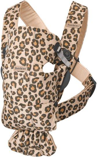 BabyBjörn Mini Bæresele Cotton Leopard, Beige