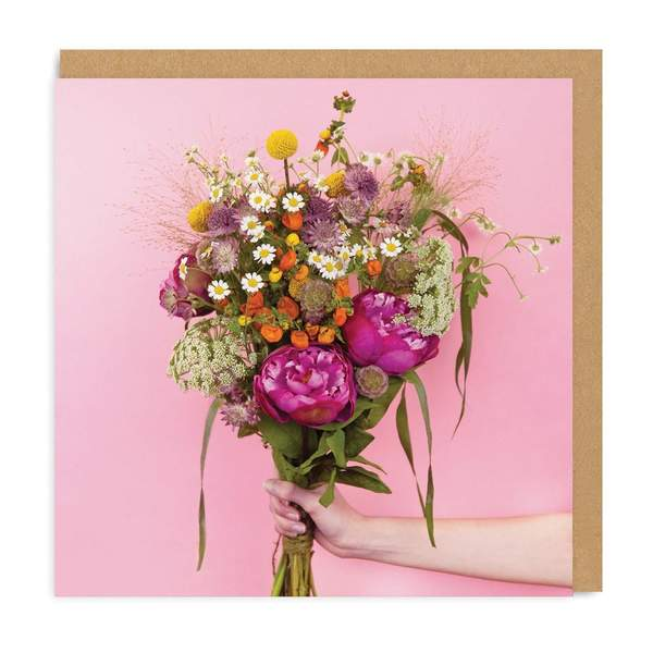 Flowers Bouquet Square Greeting Card