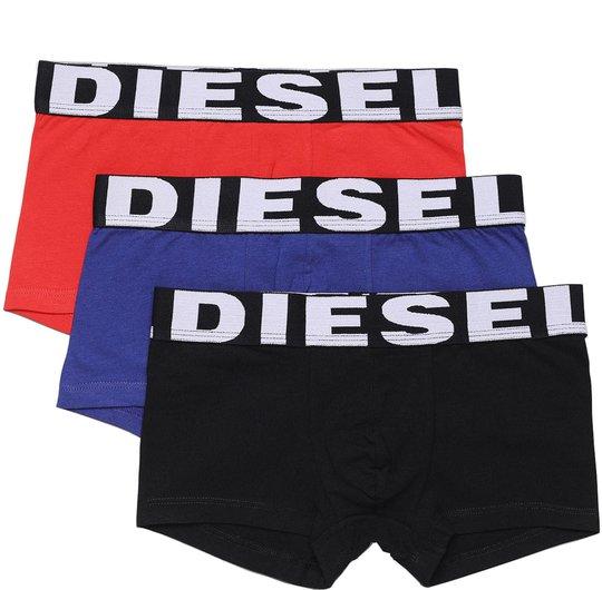 Diesel UMBX Shawn Boksershorts 3-Pack, Black/Bluette/Red 10 År