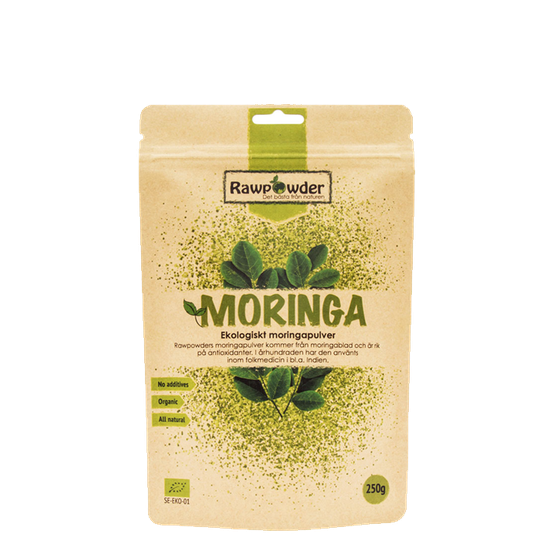 Moringa, Ekologiskt Moringapulver, 250 g