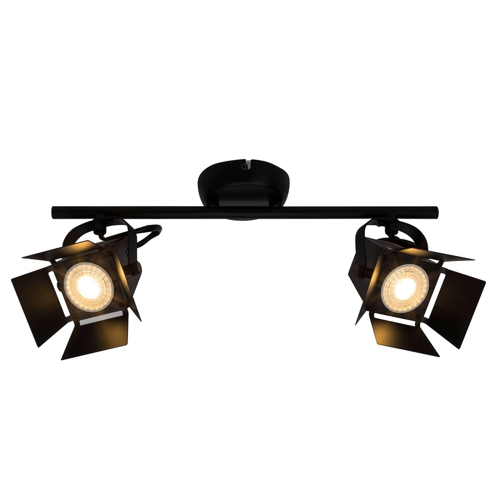 2 lyskilder LED spot taklampe Movie, svart